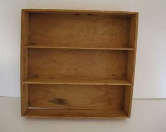 Vintage Wooden Shelf Dovetailed Rustic Farm House Style