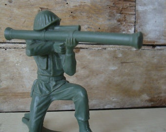 Vintage Plastic Solider Army Guy Tim Mee Toy Company