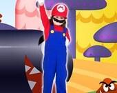 Mario Bros Costume --- Mario Costume (4 pieces set)