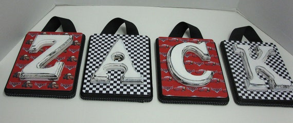Disney Cars Bedding Lettter Plaques Custom to Match Room - SOLD PER LETTER