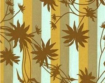 Cotton Fabric - Joel Dewberry - Chestnut Hill Black Eyed Susan Stripe Forest - by the yard