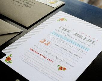 Bridal Shower Invitation - Deposit