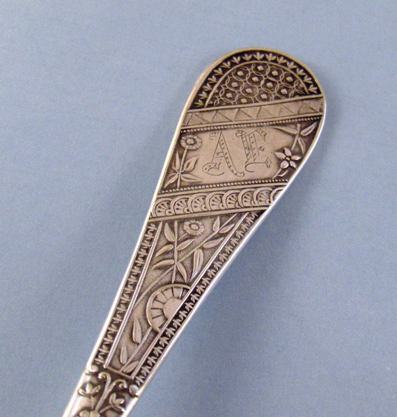 Vintage Silverplate Serving Spoon Brilliant Reed and Barton 1869 Monogrammed