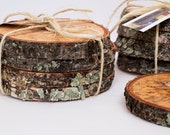 Coasters - Rustic Cherry Wood Coasters - Set of 4