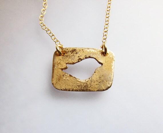 Gold Bird Necklace, Bronze Layering Pendant, Handmade Bronze Necklace, Nature Jewelry