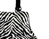 Zebra Stripe Animal Print Fat Bottom Bag