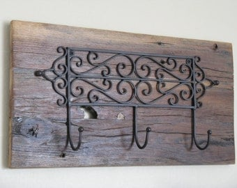 Rack, Reclaimed Cedar, Scroll Hook, Wall Rack