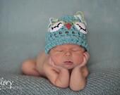 Newborn Owl Hat  Newborn Photo prop