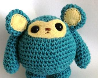 Chunky monkey fat friends amigurumi PDF crochet pattern