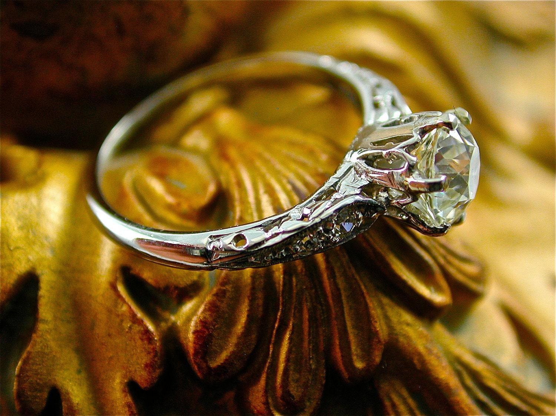 antique gothic diamond engagement ring wedding vintage. Black Bedroom Furniture Sets. Home Design Ideas
