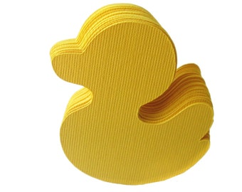100 Canary Yellow Ducks (2.2 inches) Textured Cardstock  die cut , Duck Baby Shower, A221