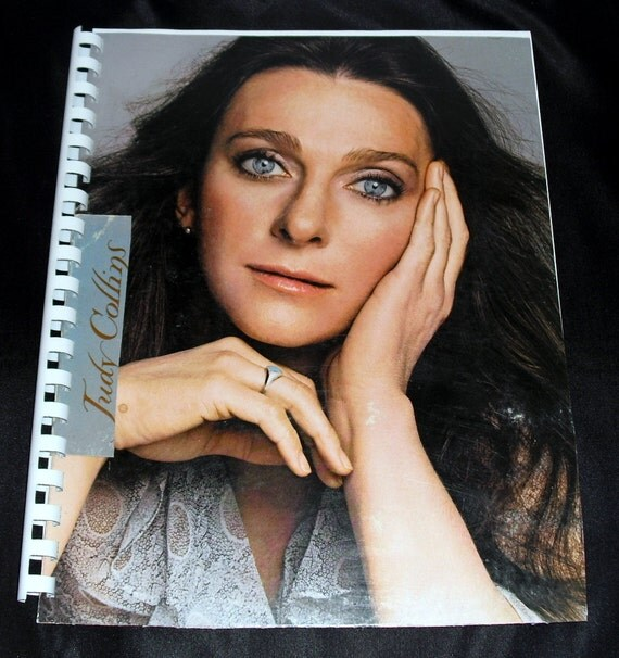 Free Shipping 1970s Judy Collins Judith Record Album Recycled / Upcycled LP Cover Blank Comb-Bound Journal