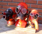 GAS MASK  Lot of 3 NOS