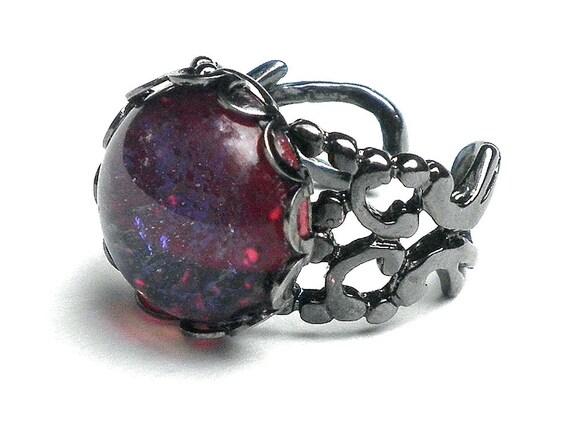 Dragon's Breath(Mexican Opal) Unisex Ring