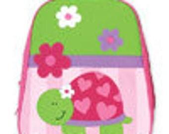 Stephen Joseph Personalized Monogrammed Turtle Go Go Backpack