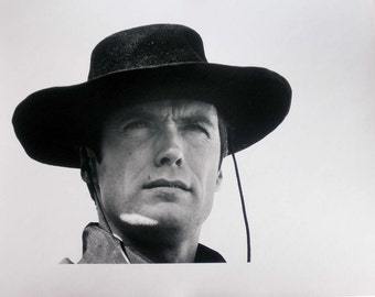 "Clint Eastwood Looking Up ""Hang 'Em High"" (1968) 11"" x 14"""