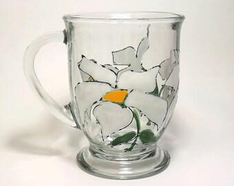 Trillium Glass Coffee Mug