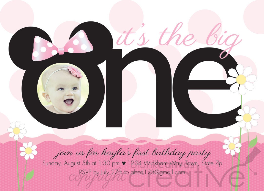 mickey mouse 1st birthday invites - Etame.mibawa.co