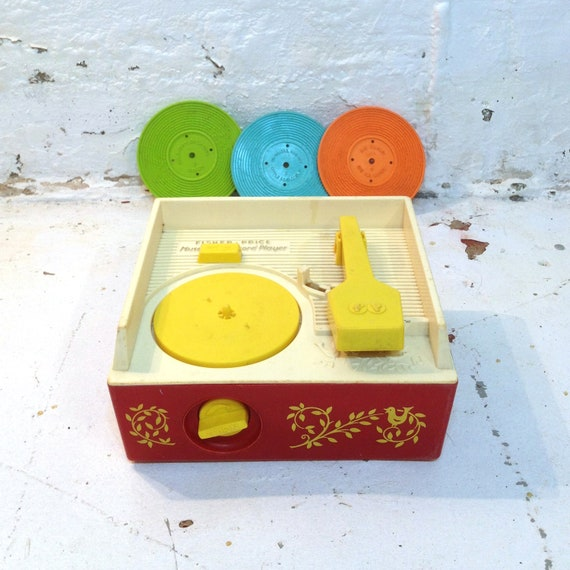 Fisher Price Music Box Record Player Childrens 80s Sound Toy