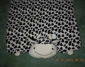 Toddler Blanket and animal pillow-Cow or Duck