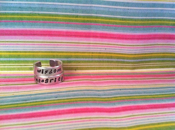SALE TODAY....NEW-Personalizd Stack-Able Rings...Hand Stamped