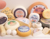 Miniature Dollhouse Assorted Italian Cheese for Display