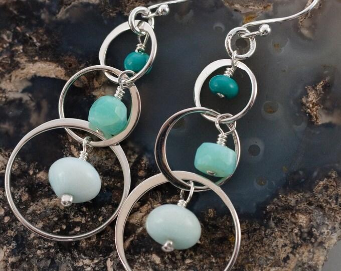 Cool Aqua Earrings
