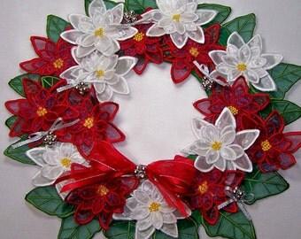 Christmas Wreath-  Machine Embroidery design