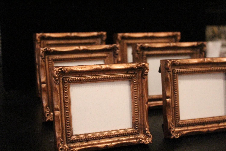 Set Of 10 Mini Vintage Style Frames Bronze Copper Gold Brown