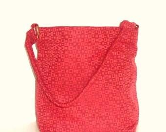 Red Square Hobo, Red Shoulder Bag