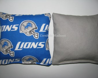 Detroit Lions NFL Cornhole Bags Corn hole Corn Toss Baggo Set of 8