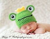Download PDF crochet pattern 043 - Frog hat - Multiple sizes from newborn through 12 months