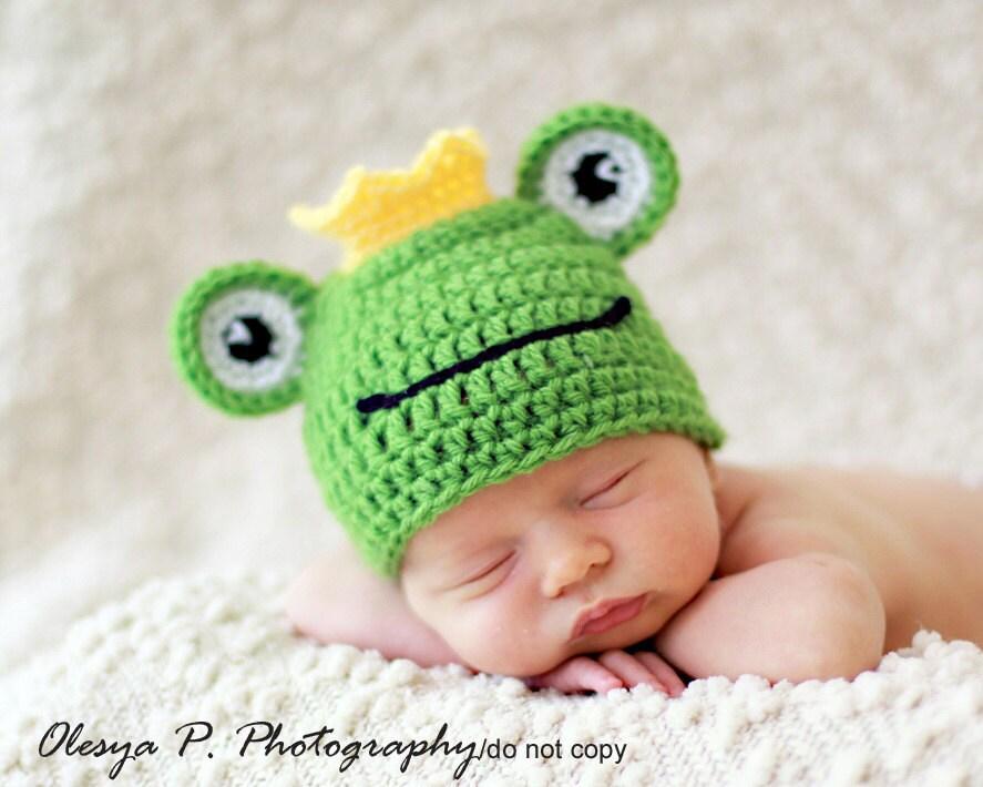 Free Crochet Pattern Newborn Frog Hat : Gallery For > Crochet Frog Hat Free Pattern