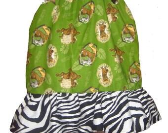 Pillowcase Dress & Pants Set Scooby Doo Safari Zebra Boutique 12/18M 24M/2T 3T/4T 5/6 Pageant New