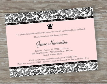 "Baby Shower invitations - Digital file ""Royalty Baby"" design"