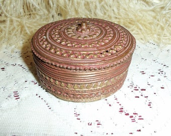 Vintage 60s Brass and Copper Case Made in India