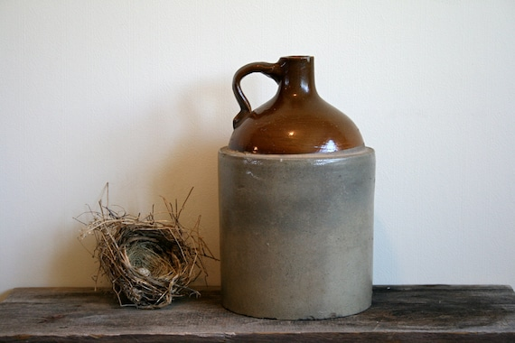 Large old Crock in great colors