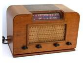 Vintage Tube Radio- Trav-ler wood- light brown