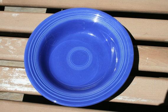 Vintage Fiestaware Deep Plate in Cobalt Blue