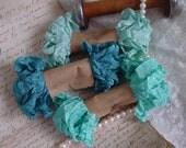 Shabby Wrinkled TRANQUIL SEA ribbon bundle, 15 yards
