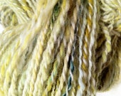 "Handspun, Hand dyed ""Sunflowers"" wool yarn"