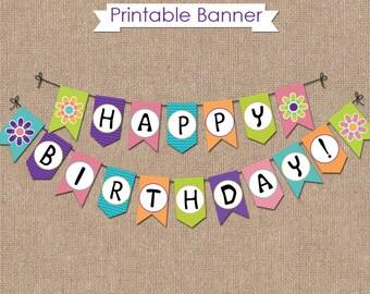 SCOOBY DOO Birthday Banner - INSTANT Download