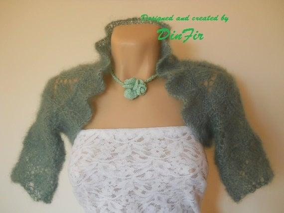 HAND KNITTED BOLERO / Wedding Accessories Shrug Vest Jacket Gift Ideas Elegant Romantic / Women Cardigan Capelet Crocheted Chic Feminine