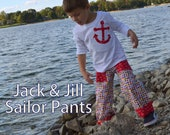 Jack and Jill Sailor Pants with Applique PDF Sewing Pattern & Tutorial