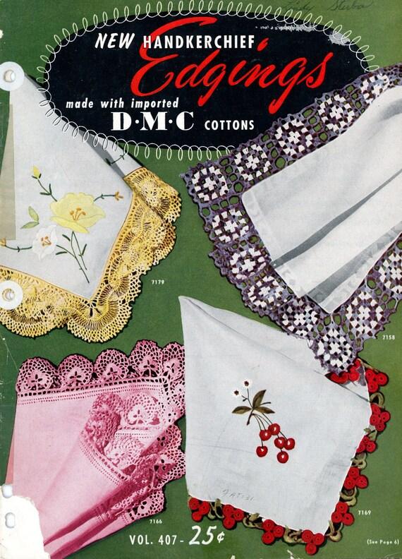 Vintage Crochet Pattern Book Handkerchief Edgings pdf Digitally Resotred