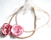 Custom Order for Angie Corry, girls necklaces, light pink and dusky pink