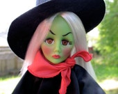 Gorgeous  Effanbee Wicked Witch Doll With Tag Circa 1984 Mint Condition And your Little Dog Too My Pretty