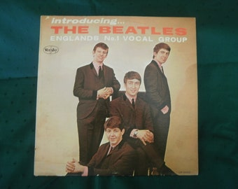 "Vintage Beatles Album ""Introducing the Beatles"" MONO (Vee-Jay LP-1062)"