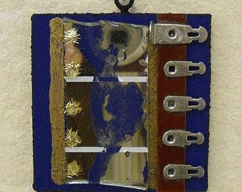 Miniature 37: found object pendant/hanging/ornament
