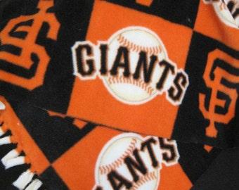 San Francisco Giants Baseball Team Logos in Blocks Fleece Scarf
